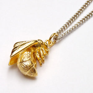 Silver & Vermeil Bee Necklace - Joy Everley Fine Jewellers, London