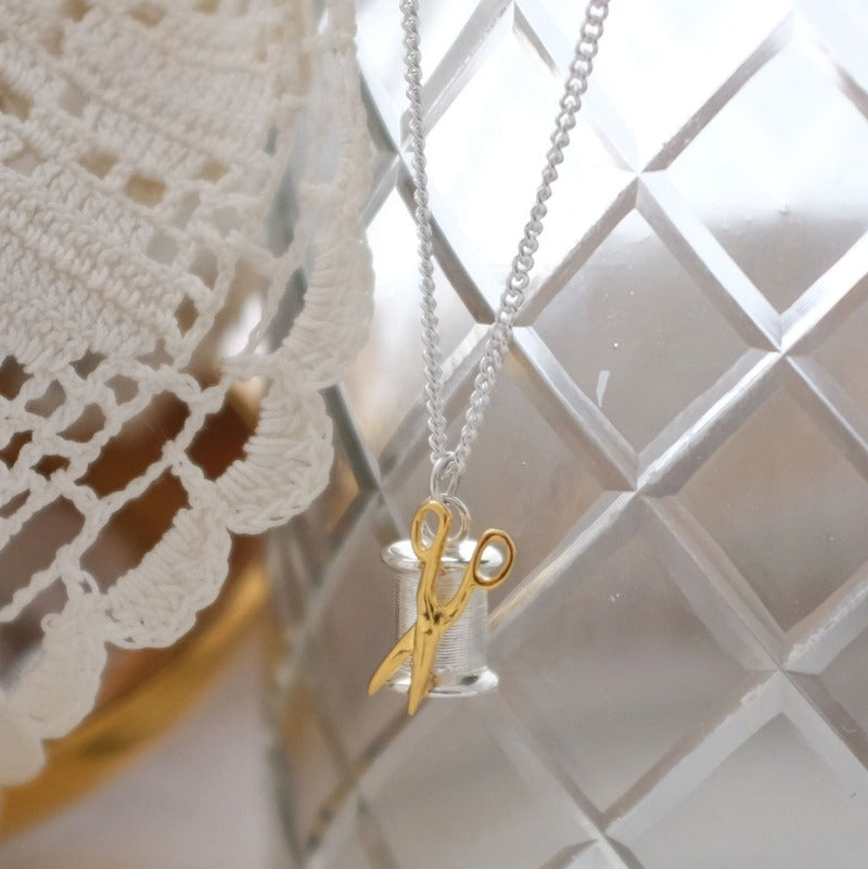 Vermeil Bobbin Necklace - Joy Everley Fine Jewellers, London