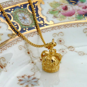 Vermeil Royal Crown Necklace