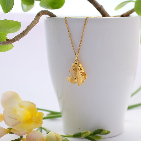 Vermeil Bee Necklace