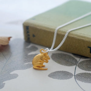 Vermeil Mouse Necklace - Joy Everley Fine Jewellers, London