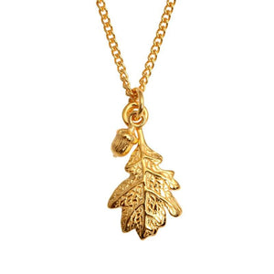 Vermeil Oak Necklace - Joy Everley Fine Jewellers, London