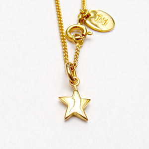 Vermeil Star Necklace - Joy Everley Fine Jewellers, London