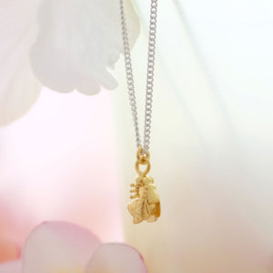 Tiny Golden Bee Necklace - Joy Everley Fine Jewellers, London