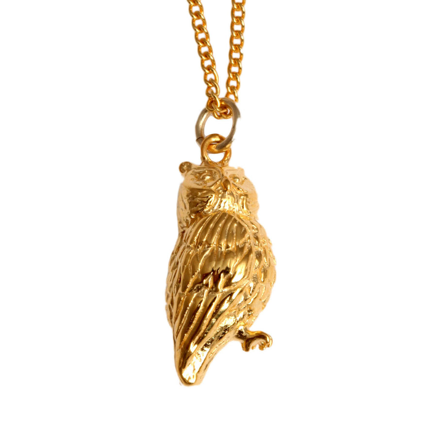 Vermeil Owl Charm - Joy Everley Fine Jewellers, London