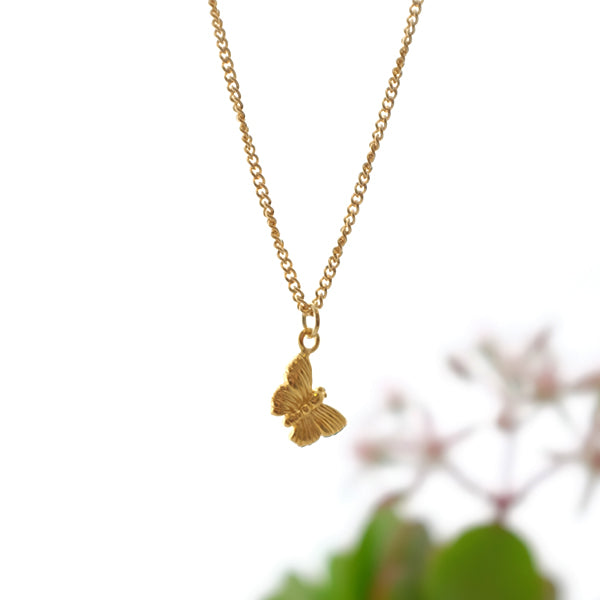 Vermeil Butterfly Silver Necklace by Joy Everley