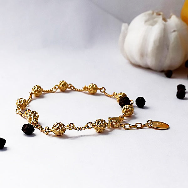 Silver Peppercorn Chain Bracelet by Joy Everley