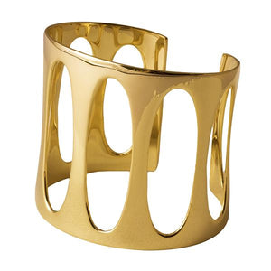 Telstar Sculptural Silver Cuff by Joy Everley