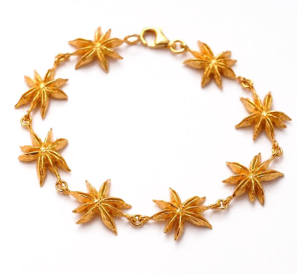 Star Anise Silver Bracelet by Joy Everley
