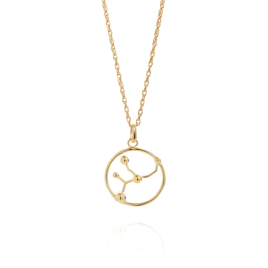 Solid Gold Virgo Astrology Necklace by Yasmin Everley
