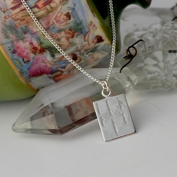 Wildest Dreams Silver Tag Necklace by Joy Everley