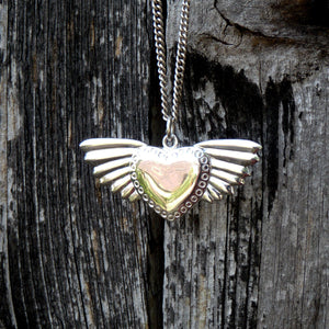 Large Winged Heart Necklace - Joy Everley Fine Jewellers, London
