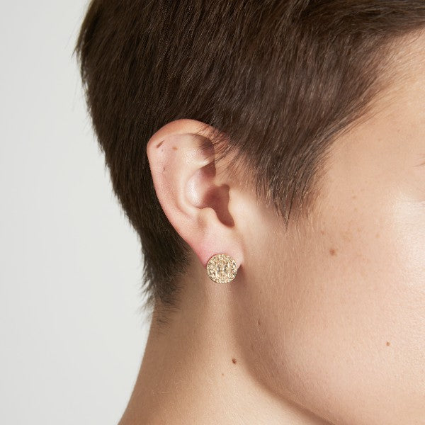Solid Gold Baroque Ear Studs by Joy Everley