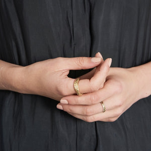 Solid Gold Rough Ring by Joy Everley