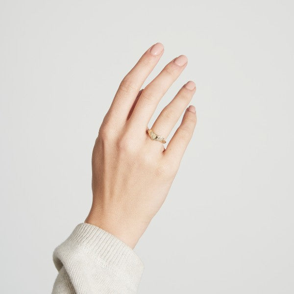 Gold Winged Heart Ring - Joy Everley Fine Jewellers, London