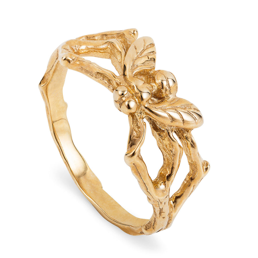 Gold Little Fly Ring - Joy Everley Fine Jewellers, London