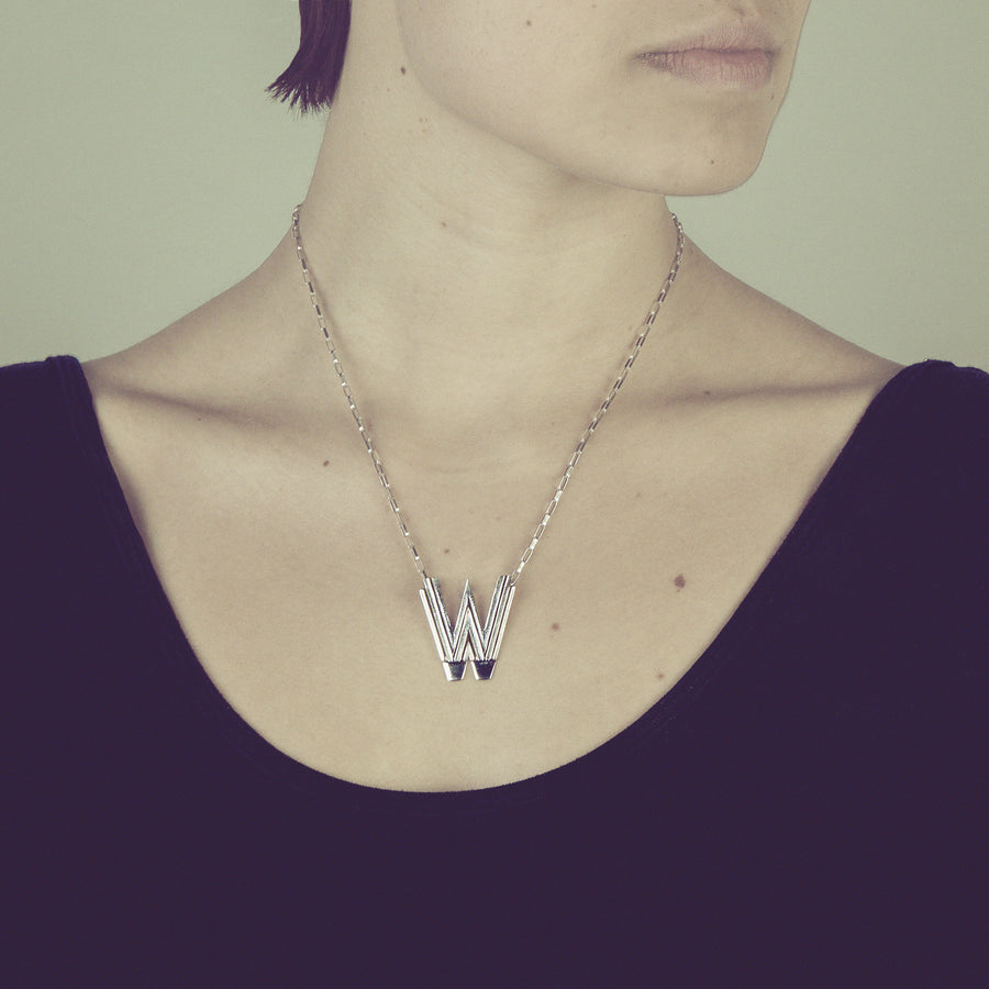 Saxony W Initial Necklace - Joy Everley Fine Jewellers, London