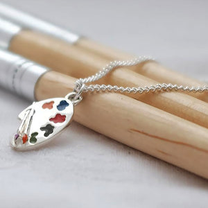 Artist's Palette Silver Necklace by Joy Everley