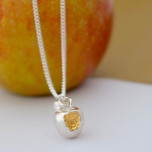 Silver Apple Necklace by Joy Everley