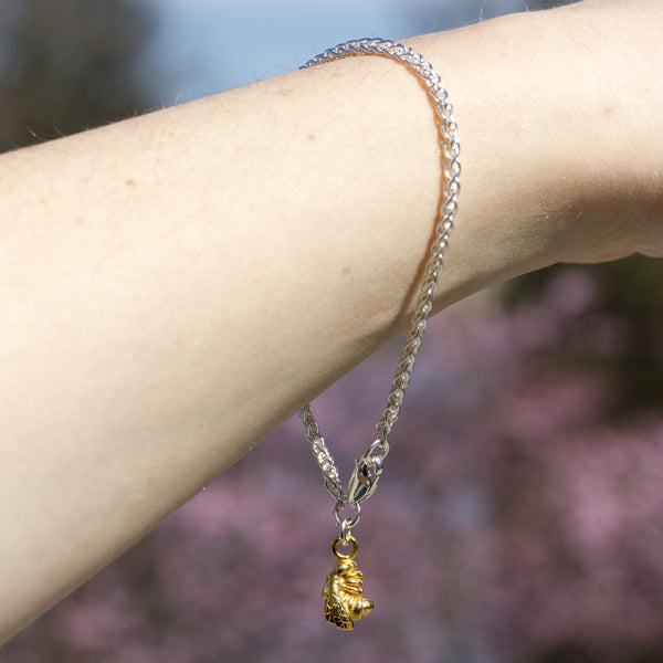 Golden Bee & Spiga Bracelet - Joy Everley Fine Jewellers, London