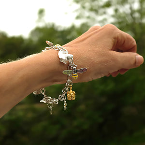 Queen Bee Silver Charm Bracelet by Joy Everley