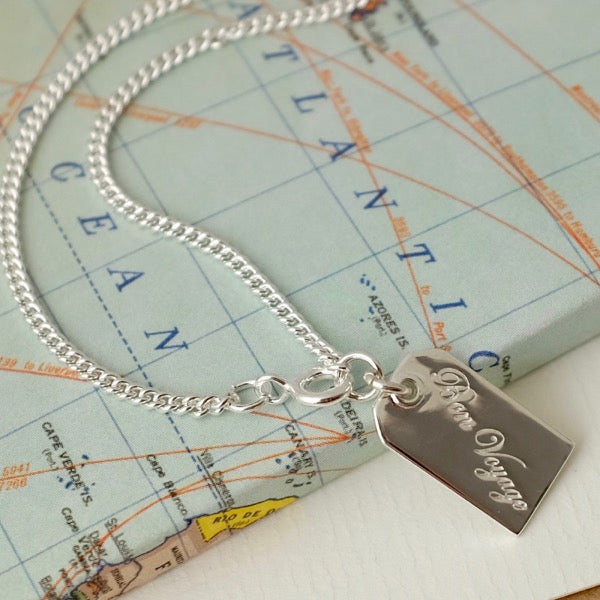 Silver Bon Voyage Tag by Joy Everley