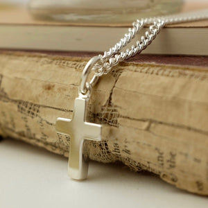 Chunky Silver Cross by Joy Everley