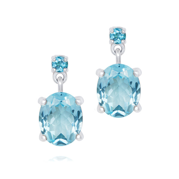 Topaz Cocktail Drop Earrings - Joy Everley Fine Jewellers, London