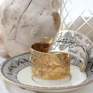 Silver and vermeil baroque cuffs