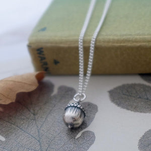 Silver Acorn Necklace - Joy Everley Fine Jewellers, London