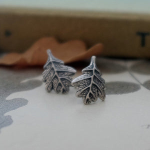 Oak Leaf Ear Studs - Joy Everley Fine Jewellers, London