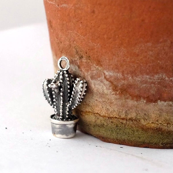 Silver Cactus Charm by Joy Everley