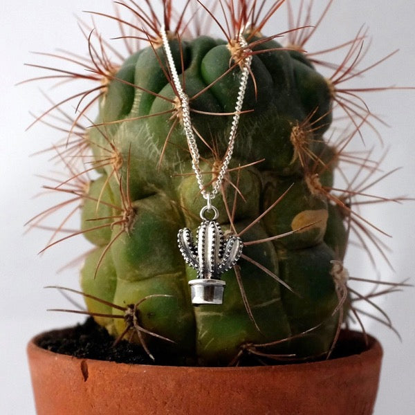 Silver Cactus Necklace by Joy Everley