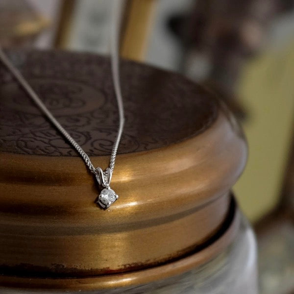 Classic Diamond Necklace by Joy Everley