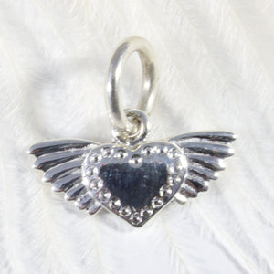 Winged Heart Charm - Joy Everley Fine Jewellers, London