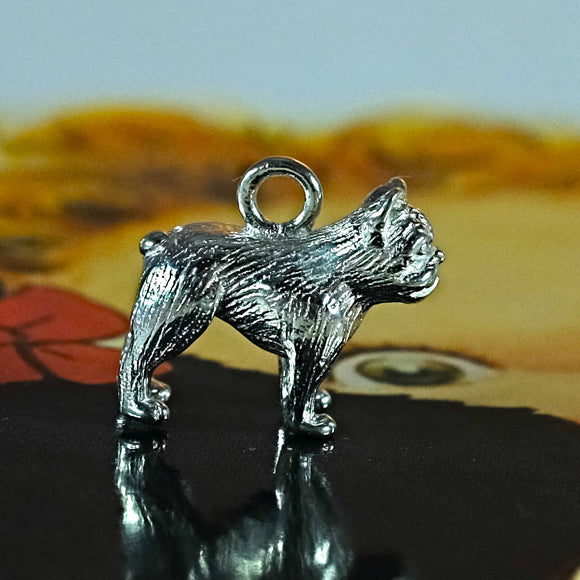 Silver french bulldog charm