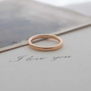 18ct Rose Gold Fairtrade Wedding Ring