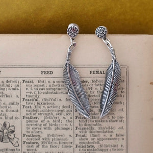 Silver Feather Earrings by Joy Everley