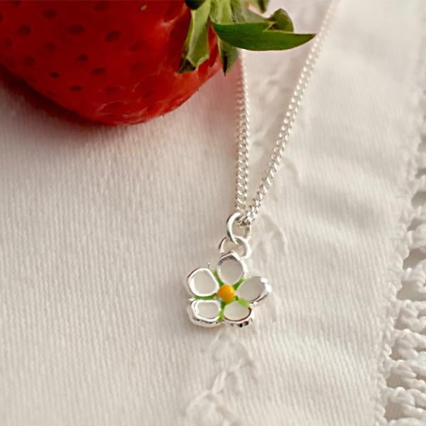 Strawberry Flower Necklace
