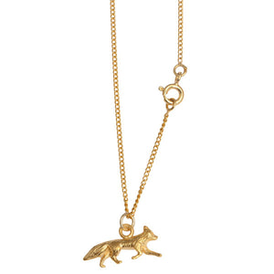 Gold Plated Silver Fox Necklace