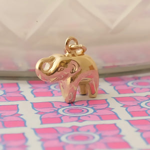 Gold lucky elephant charm Joy Everley