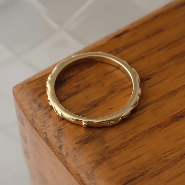 Solid Gold Baroque Fine Ring By Joy Everley