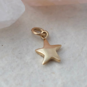 Solid Gold Tiny Star Charm