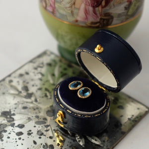 Solid Gold Iolite Ear Studs by Joy Everley