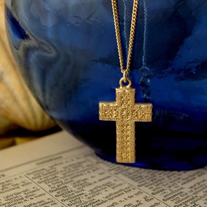 Solid Gold Baroque Cross by Joy Everley