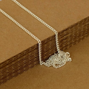 Silver Chain, Heavy Curb Chain by Joy Everley