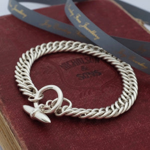 Heavy Silver Close Close Curb Bracelet by Joy Everley