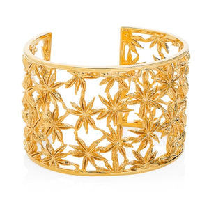 Vermeil Wide Star Anise Cuff - Joy Everley Fine Jewellers, London