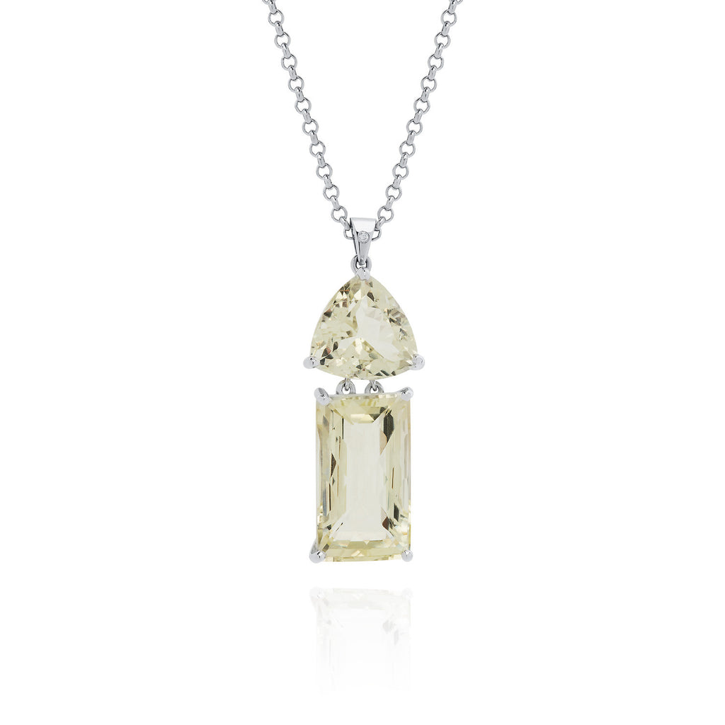 Lemon Quartz & Feldspar Necklace