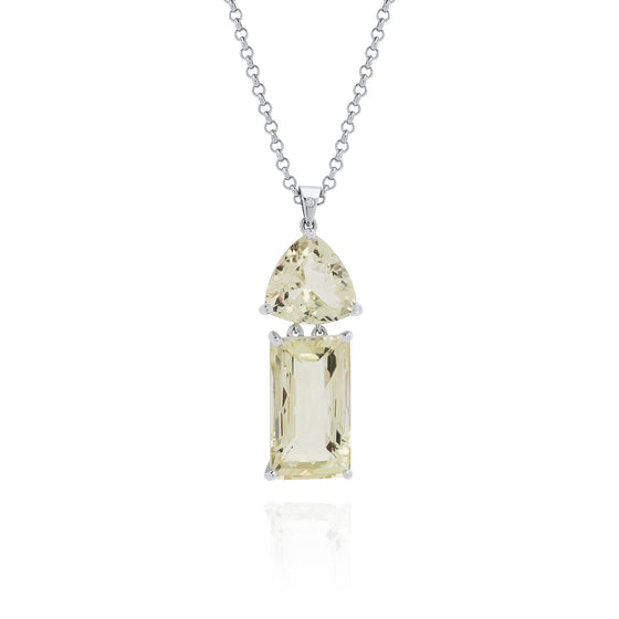 Lemon Quartz & Feldspar Necklace - Joy Everley Fine Jewellers, London